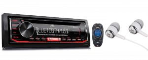 JVC Single-Din Built-in Bluetooth Car Stereo